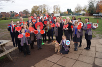 Holy Trinity School Creates Field of Poppies